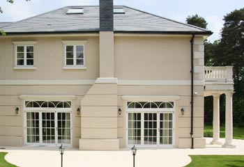 Cream Render enhances the grand character of the luxurious mansion