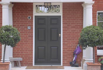 Bespoke design Georgian front door with exact proportions and hand-crafted top light feature