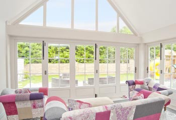 High Performance bifold doors in entirely traditional look