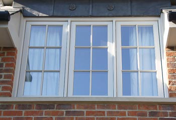 Recessed Casement windows fitted behind brick for extra protection from the elements