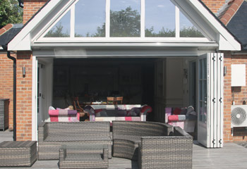Open up the space and let the garden in with our period bifold doors