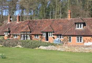 Replacement Flush timber windows and doors for this impressive farmhouse in Brockham, Surrey