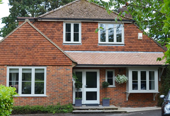 Replacement Flush Casement timber windows and doors in Light Grey for this stylish home in the village of Upper Woolhampton, Berkshire