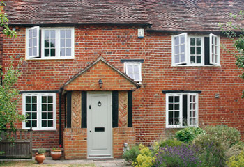 Replacement Flush Casement timber windows and doors in Georgian design for a cottage in Send, Surrey
