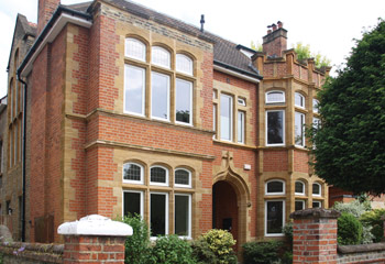 Unique Edwardian casement windows with leaded lights for this opulent & stately home in Putney, South West London