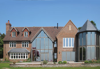 Recessed Casement windows and French Doors for exceptional Self-build project in Windlesham, Berkshire