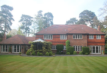 replacement & new Recessed timber casement windows for this extended 1930's country house in Peaslake, Surrey