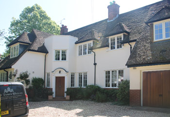 faithful replacement Flush timber casement windows and doors for this traditional country house in Winchester, Hampshire