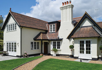 Replacement and new flush casement timber windows for the refurbished traditional 1930's home in Sunningdale, Berkshire