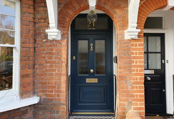 Unique Edwardian Replica Entrance Door with exclusive panel Design