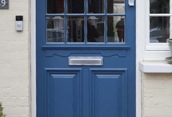 Authentic 1920's Entrance Door with matching side window