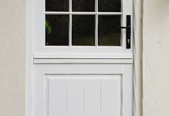 Stable Door type Entrance Door in White