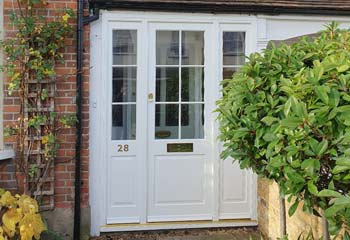 Narrow Edwardian Entrance Door with sidelights