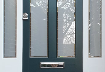 Victorian Entrance door with sidelights