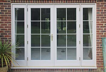 Recessed Edwardian French Doors in Elephant's Breath
