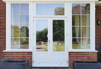 Double French Doors with clear glass