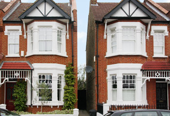 Unique Edwardian design timber sash windows and doors for this townhouse in Wimbledon