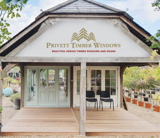 Privett Timber Windows Cobham Surrey Showroom